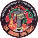 Firefighter American Super Heros Large Patch