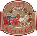 Fire Department Always Ready with Fire Wagon Large Patch