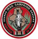 Iraq Campaign Service in Iraq Ribbon Patch