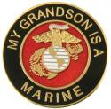 My Grandson is a Marine EGA Round Lapel Pin