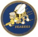Navy Seabees Large Pin