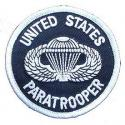 United States Army Paratrooper Patch Round