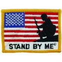 Stand BY ME  USA Flag Patch.