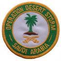 Operation Desert Storm Saudi Arabia Patch