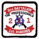 USMC Battalion 1st Marines Patch