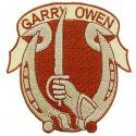 Army 7th Cavalry Regiment Patch  Garry Owens Tan