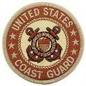 Coast Guard Logo Tan Patch