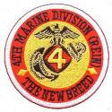 USMC 4th Division Patch  New Breed