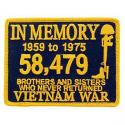 Vietnam In Memory Patch