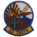 Air Force 22 TASTS Patch