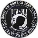 POW MIA You Are Not Forgotten Large Circle Patch