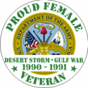 Proud to Serve Female Decal