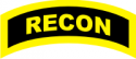 RECON Tab (Yellow/Black)   Decal