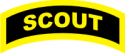 Scout Tab Decal  (Gold on Black)