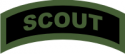 Scout Tab Decal  (Green on Black)