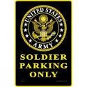 Army Parking Only.  ALUMINUM Sign