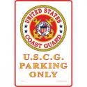Coast Guard PARKING ONLY  ALUMINUM Sign