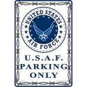 USAF PARKING ONLY ALUMINUM Sign
