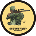 USMC Sniper Scout Association Decal