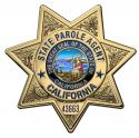 California State Parole Badge all Metal Sign with your badge number