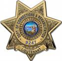 California Department of Corrections and Rehabilitation (Lieutenant)  Badge all