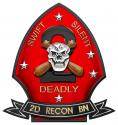 2nd USMC Force RECONNAISSANCE BATTALION Metal Sign-  All Metal Sign 16 x 15""