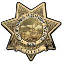 California Highway Patrol (Chief) Badge all Metal Sign with your badge number.