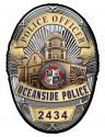 Oceanside Police (Officer) Department Badge all Metal Sign with your badge numbe