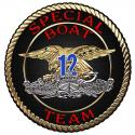 "Naval Special Warfare Unit Special Boat Team 12 all metal Sign  16"" Round"