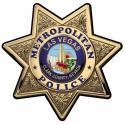 Las Vegas METROPOLITAN  (Officer) Badge All Metal Sign.