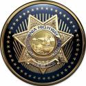 CALIFORNIA HIGHWAY PATROL OFFICER BADGE ROUND ALL METAL PLAQUE