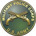 "Army Military Police CORPS All Metal Sign 14"" Round"