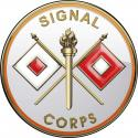"Army Signal Corps All Metal Sign 14"" Round"
