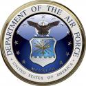"Department of the Air Force Emblem All Metal Sign.  14"" Round"