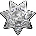 Detective San Diego Sheriff's Department Badge All Metal Sig