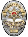 Los Angeles Country District Attorney Investigator (Deputy Chief) Metal Sign Bad
