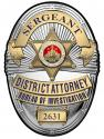 Los Angeles Country District Attorney Investigator (Sergeant) Metal Sign Badge w