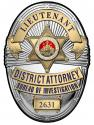 Los Angeles Country District Attorney Investigator (Lieutenant) Metal Sign Badge