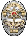 Los Angeles Country District Attorney Investigator (Investigator) Metal Sign Bad