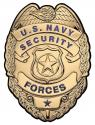 U.S. Navy Security Forces all Metal Sign (Large) 12 x 16""