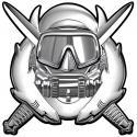 """Special Operations Combat Diver all metal Sign  11 x 11"""""""
