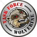 "Task Force Wolverine Metal Sign 14"" Round"