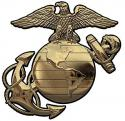 """US Marine CORPS EGA (GOLD) All Metal Sign (Small) - 6 x 6"""""""