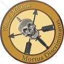"Nous Defions Mortu Discriminatu Skull All Metal Sign  14"" Round"