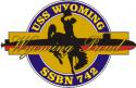 USS Wyoming SSBN-742  Decal