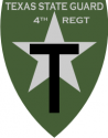Texas State Guard 4th Regiment - Subdued Decal
