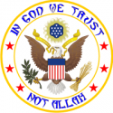 USA - Not Allah Decal