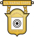 USMC Distinguished Pistol Badge Decal