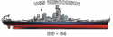 USS Wisconsin (BB-64),  Decal