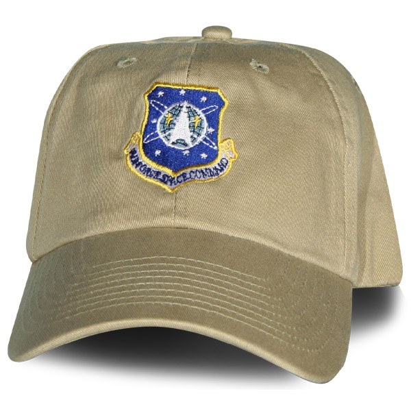 19bcb6964 USAF Space Command Los Angeles AFB Direct Embroidered Khaki Ball Cap ...